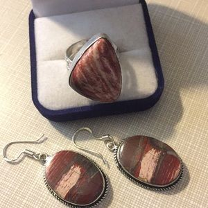Jewelry - SALE handcrafted Snakeskin Jasper Set